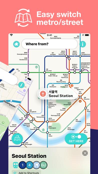 Seoul Metro Subway Map screenshot two