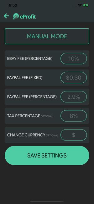Eprofit Ebay Profit Calculator On The App Store