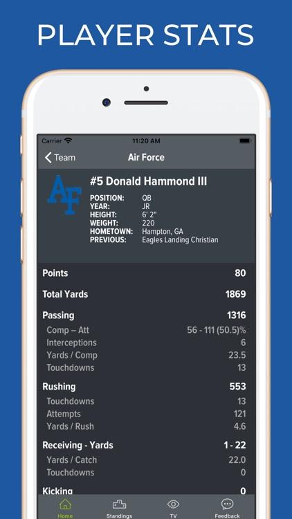 Air Force Football Schedules screenshot-3