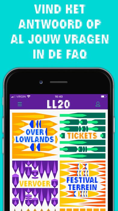 Lowlands Festival 2020 iPhone app afbeelding 3
