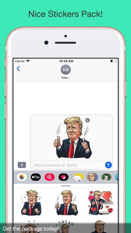 Trump The funny stickers pack screenshot-3