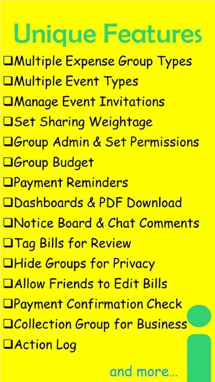 Sharenjo - Friends Bills Split screenshot-6