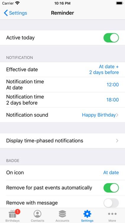 BirthdaysPro screenshot-4