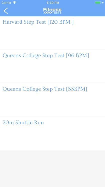 Fitness Tests screenshot-3