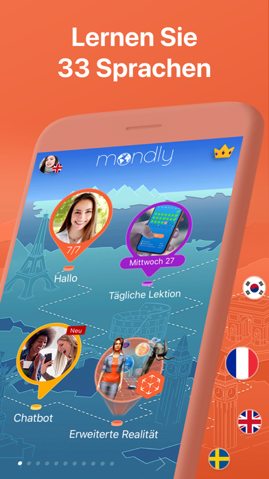 Screenshot for Mondly: 33 Sprachen lernen in Germany App Store