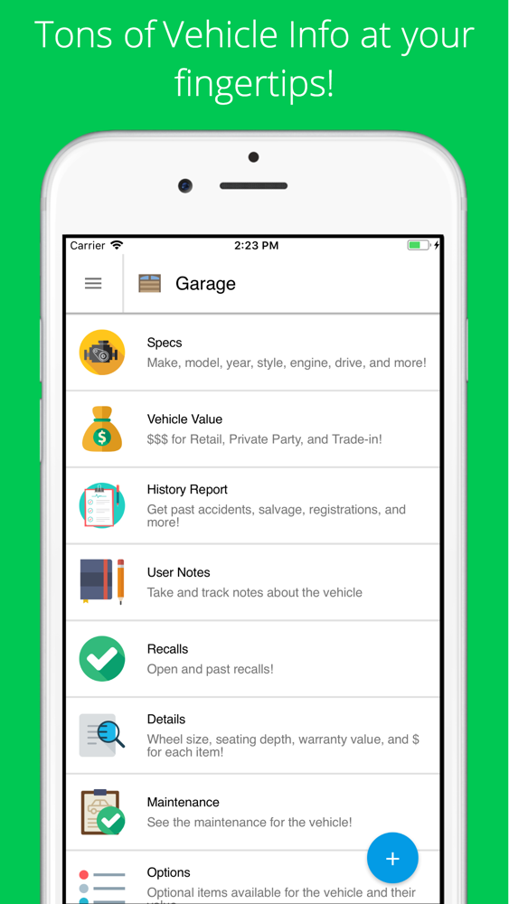 VIN Check Report for Used Cars App for iPhone - Free