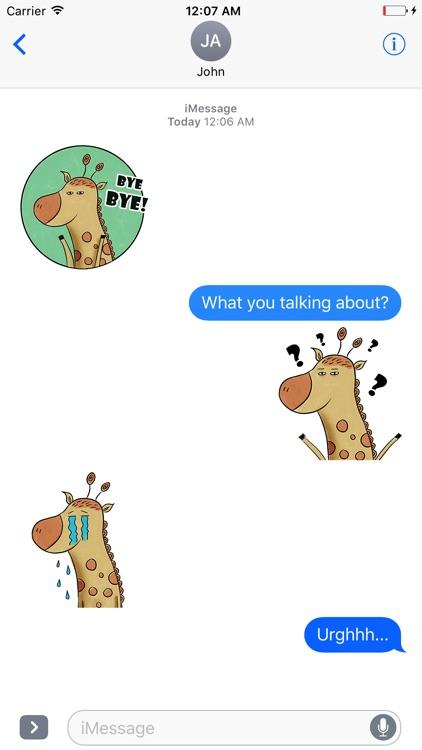Mr Giraffe Animated Stickers screenshot-3
