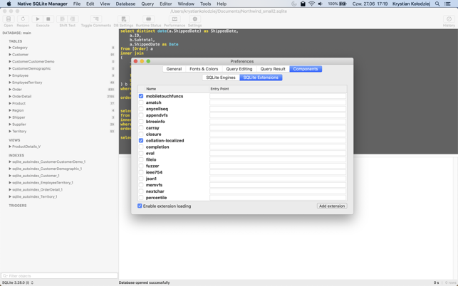 Native SQLite Manager on the Mac App Store