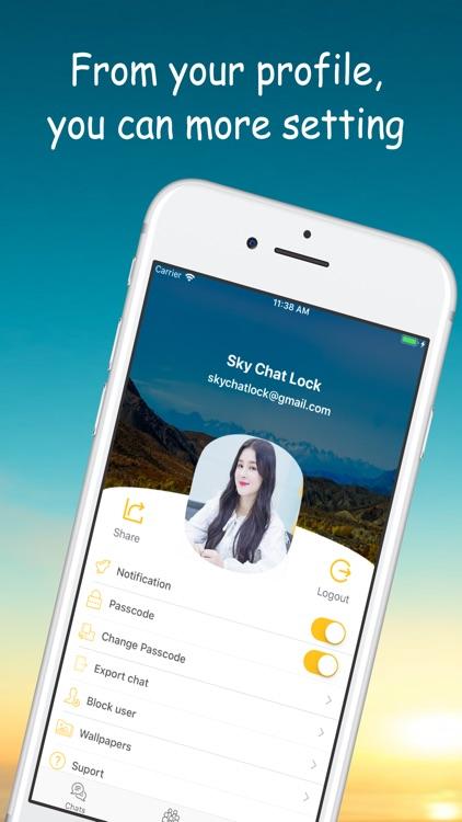 Sky Chat Lock screenshot-4