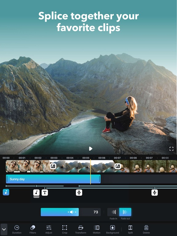 Splice - Video Editor & Movie Maker - Trim and Cut Clips & Photos - By GoPro screenshot