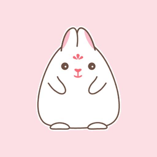 Big white rabbit cute sticker
