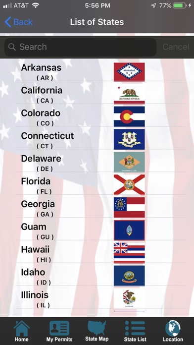 Screenshot for CCW – Concealed Carry 50 State in United States App Store