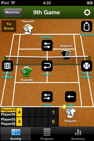 TennisRecord - náhled