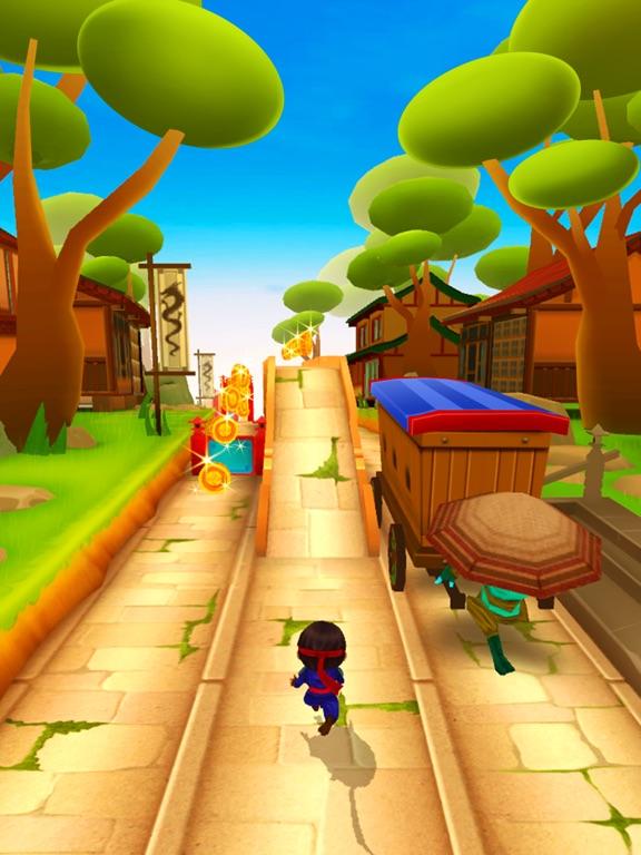 ниндзя дитя бег на iPad