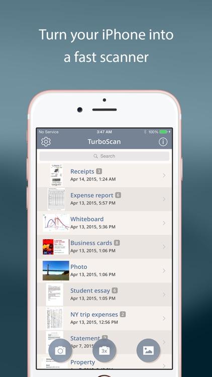 TurboScan™ Pro: PDF scanner screenshot-0