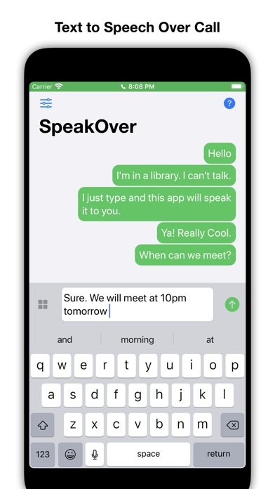 SpeakOver screenshot 2