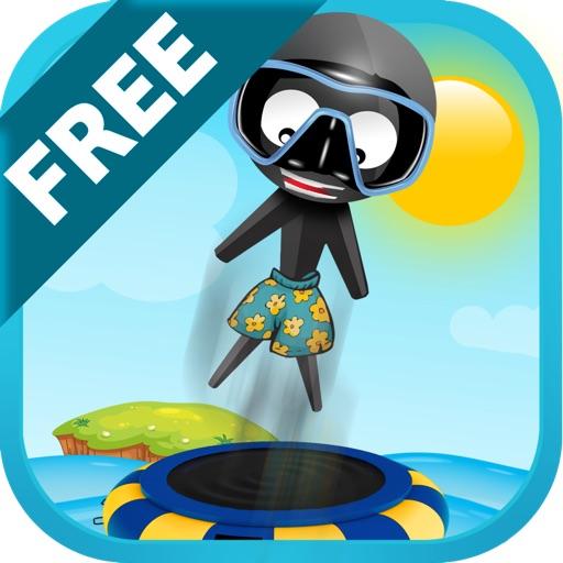 Stickman Water Trampoline FREE - Flipping Summer!