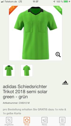 adidas Referee Jersey 2018 semi solar green