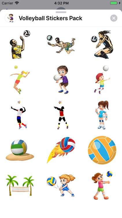 Volleyball Stickers Pack