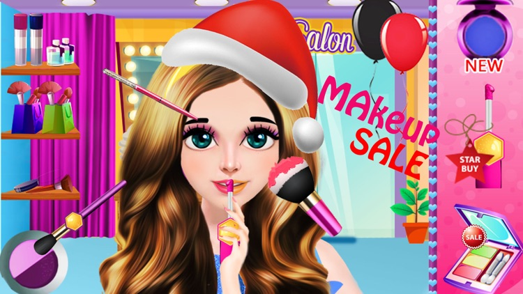 Christmas Girl Party Salon Day
