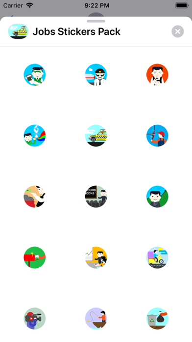 Screenshot for Jobs Stickers Pack in Sweden App Store