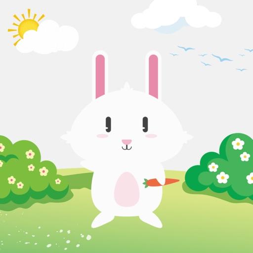 白小兔贴纸