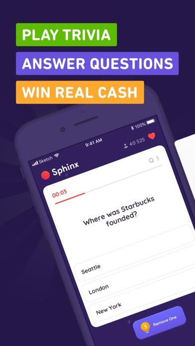 Sphinx Trivia - Win Real Cash screenshot 1