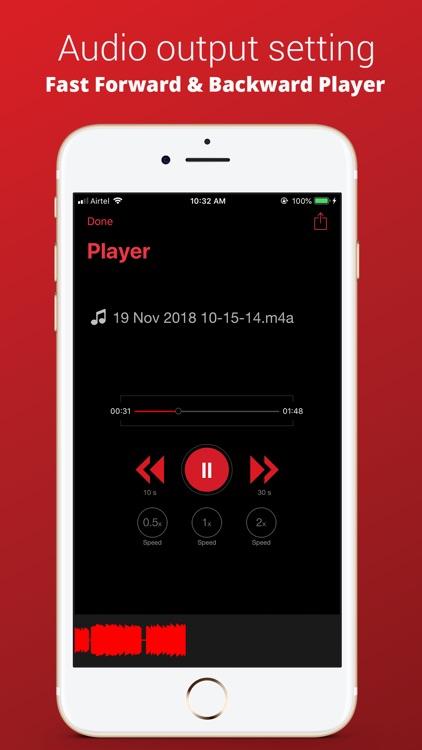 Recorder Plus : Voice Recorder screenshot-4
