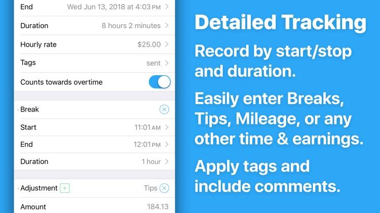 HoursTracker: Hours and Pay screenshot-5