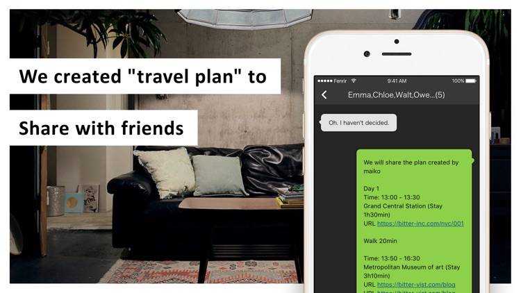 "bitter: Create a ""travel plan"" screenshot-4"