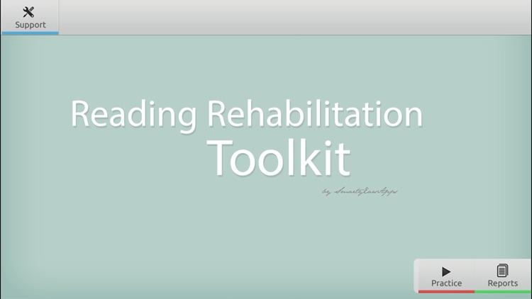 Reading Rehabilitation Toolkit screenshot-0