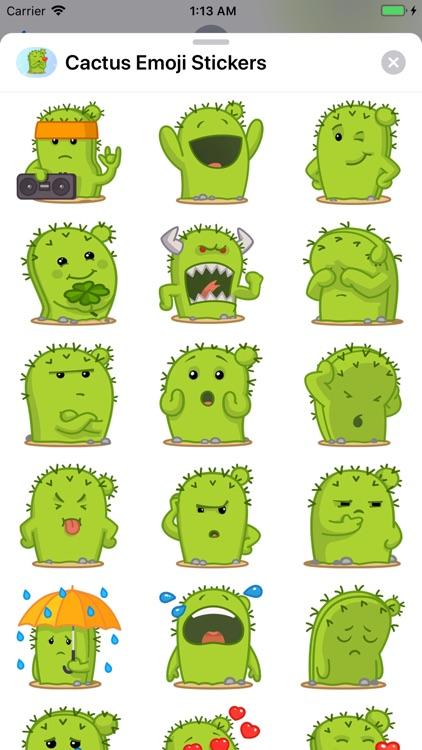 Cactus Emoji Stickers