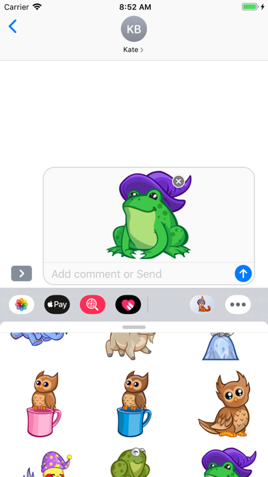 Screenshot for Cute Animals Emoji Stickers in Netherlands App Store