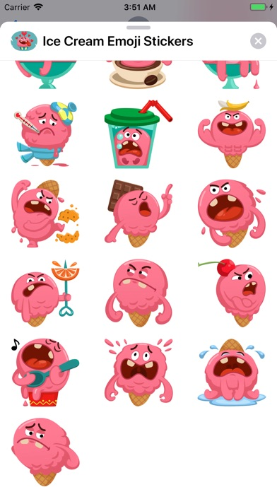 Ice Cream Emoji Stickers screenshot #4