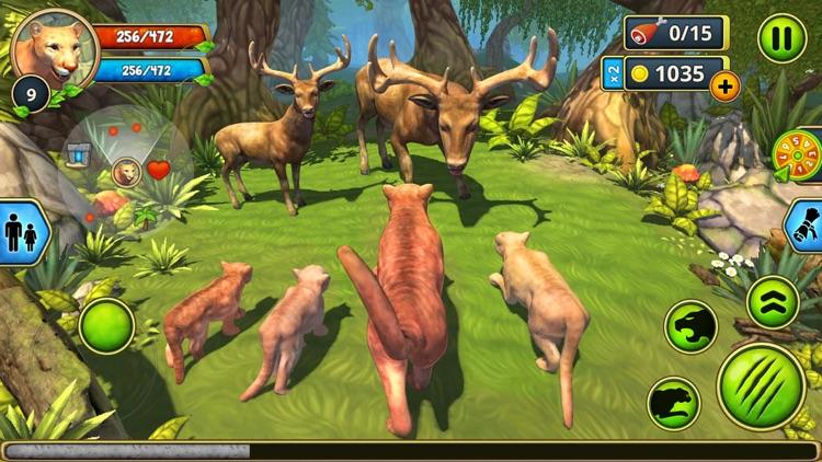 Cougar Family Sim Wild Forest screenshot-4