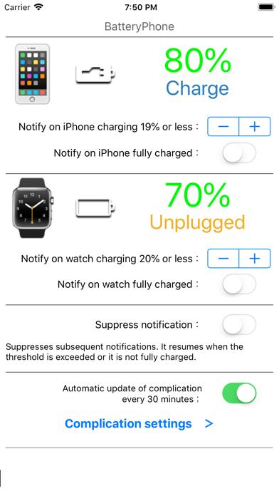 Скриншот №1 к BatteryPhone