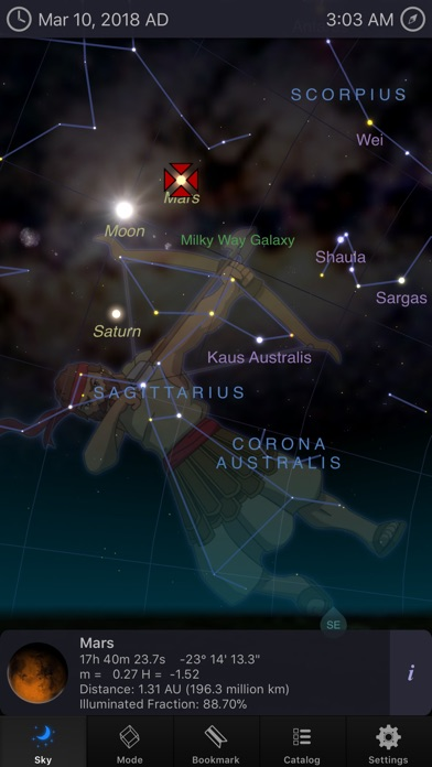 Screenshot #6 for StarMap 3D+ Plus