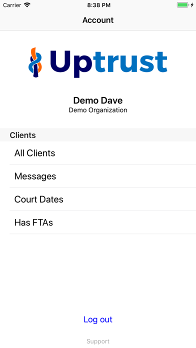 Uptrust Staff screenshot two
