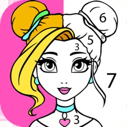 Color by Number for Girls