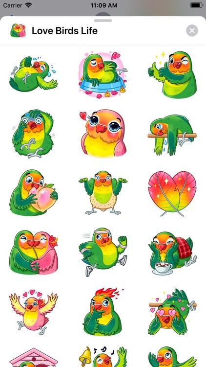 Love Birds Life Stickers screenshot-4
