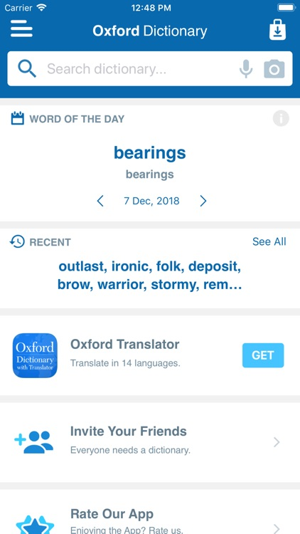 Oxford Student's Thesaurus screenshot-2