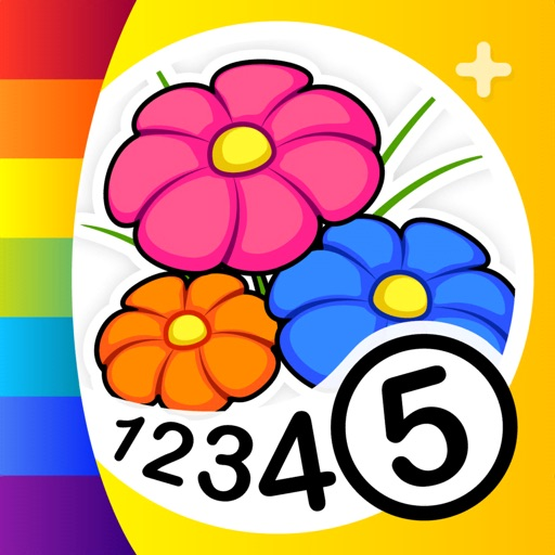Color by Numbers - Flowers + iOS App