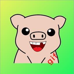 Cute Pig Sticker - dbl