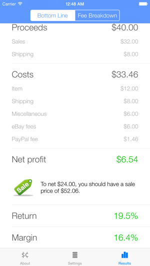 Salecalc For Ebay Calculator On The App Store