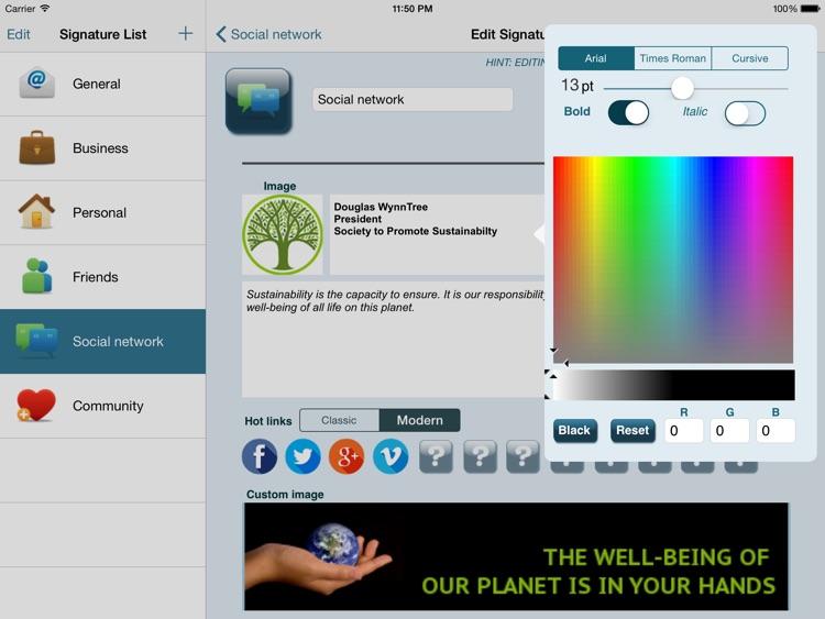 Email Signature iPad Edition screenshot-3