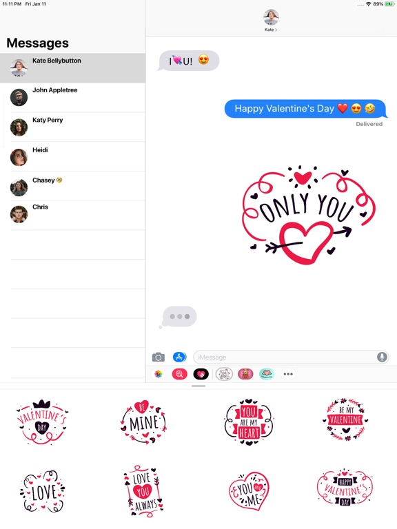 Valentine Love Badges screenshot 2