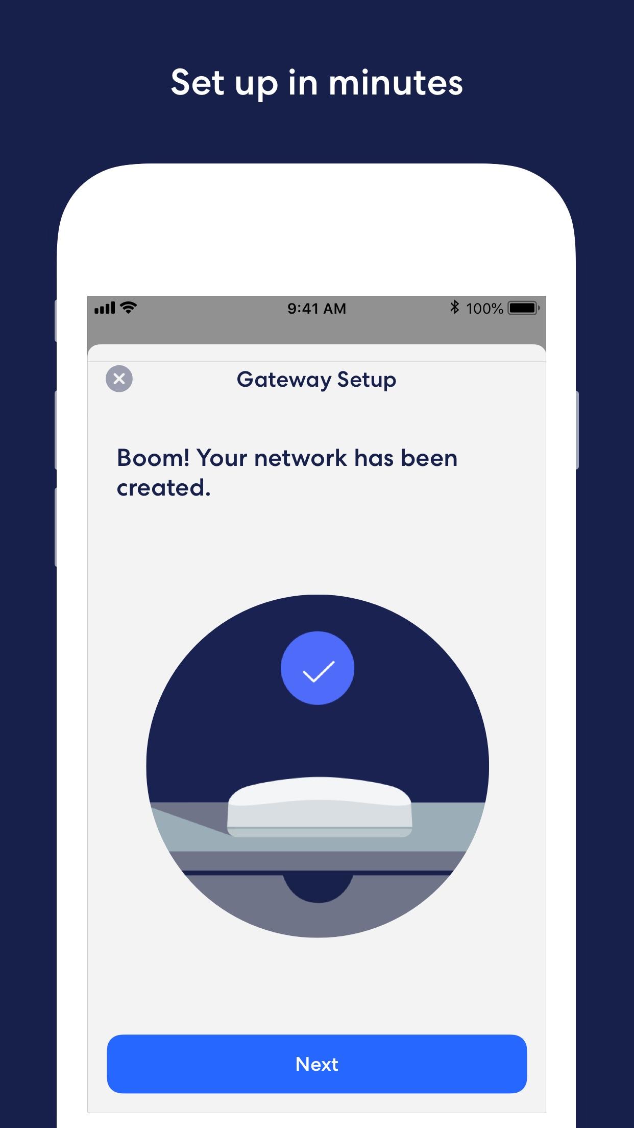 Screenshot do app eero home WiFi system