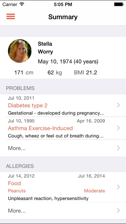 Axilla Personal Health Record screenshot-0
