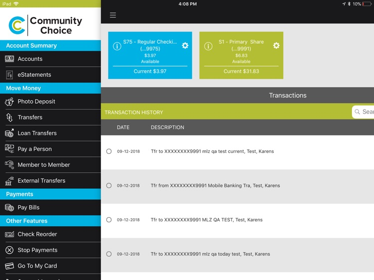 Community Choice CU for iPad screenshot-1