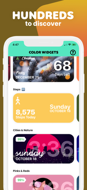 ‎Color Widgets Capture d'écran